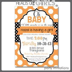 halloween baby shower invitation template