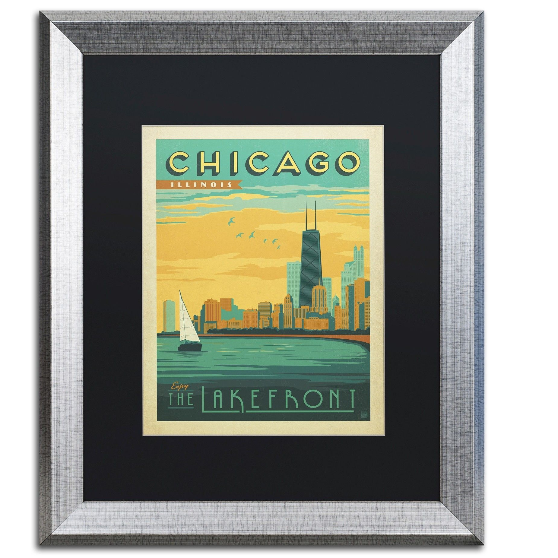 Chicago II by Anderson Design Group Framed Graphic Art