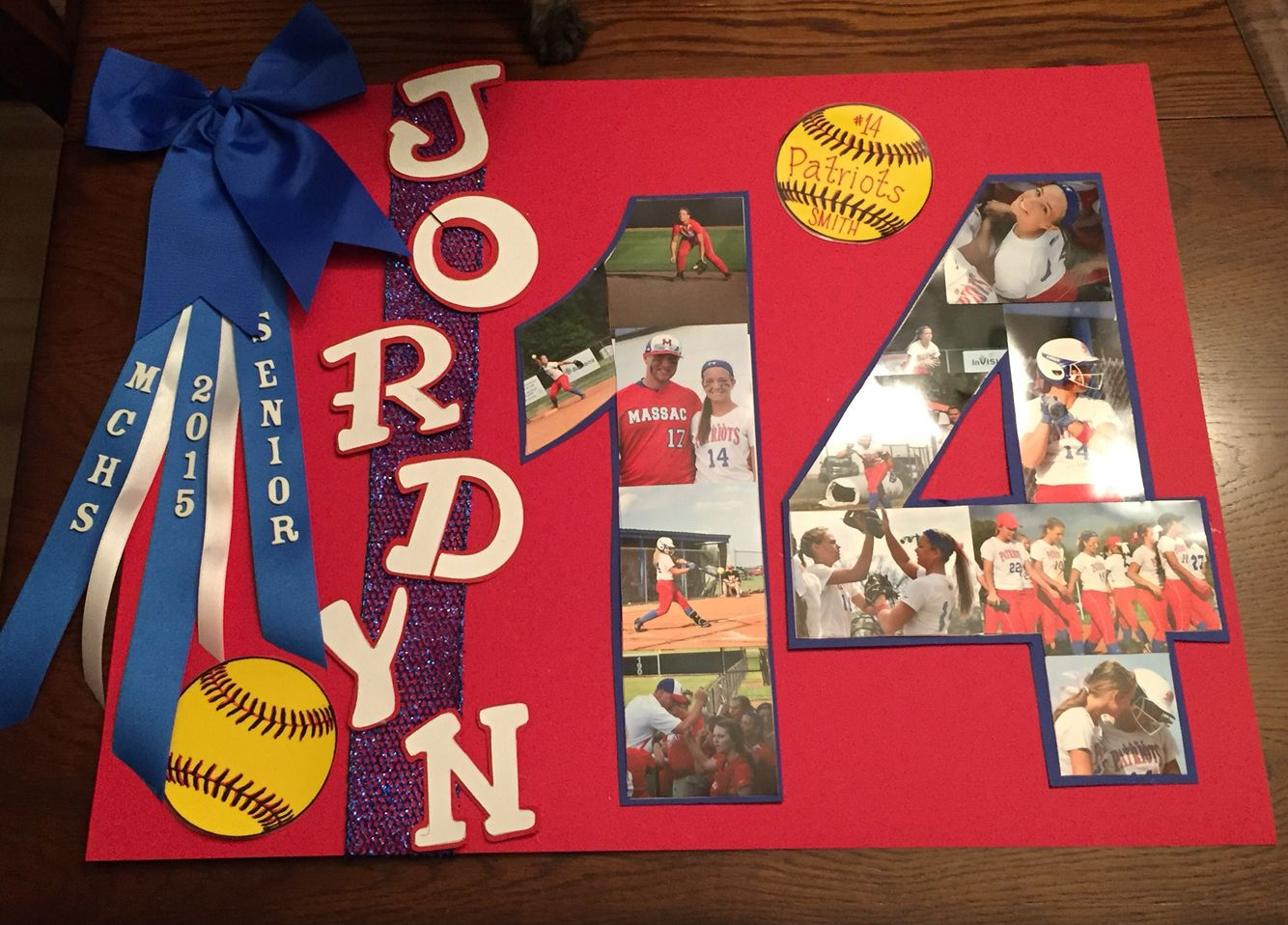 Senior Night Softball Poster Senior Stuff Senior Softball Senior Games Softball Crafts