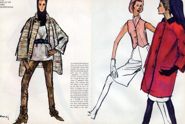 Balenciaga 1967 Fashion Sport Bernard Blossac