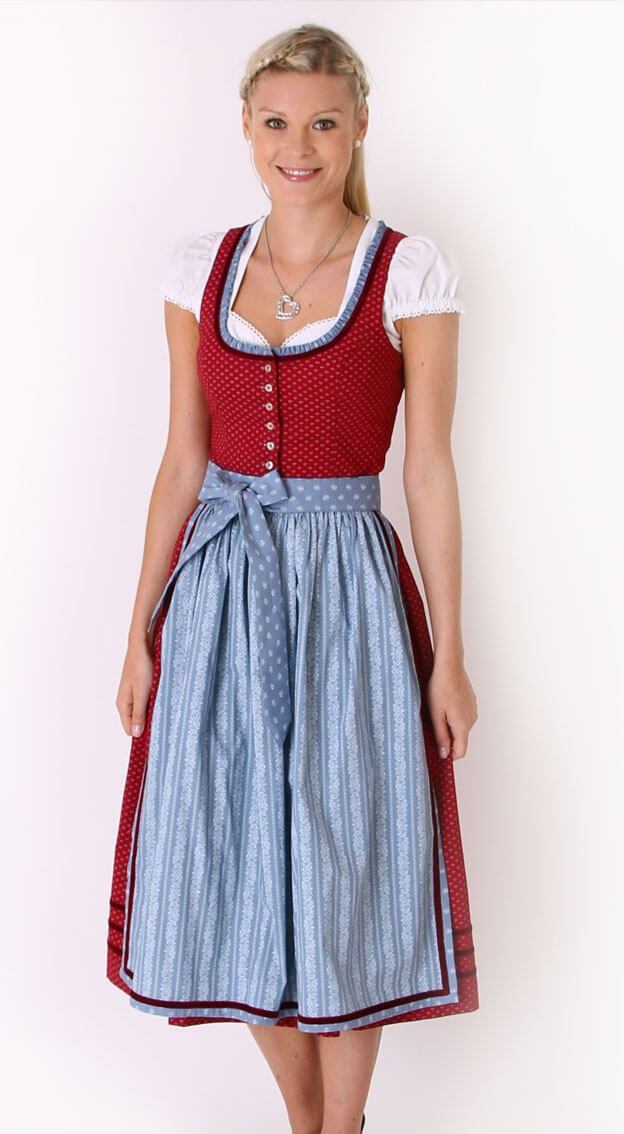 Dirndl midi Pardon in Rot von Almsach | European Traditional