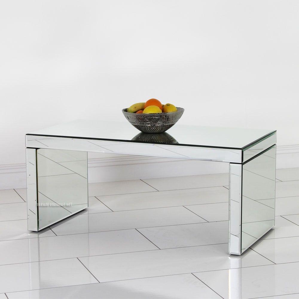 mirrored coffee table modern furniture rectangle living room  - mirrored coffee table modern furniture rectangle living room silver glasshall