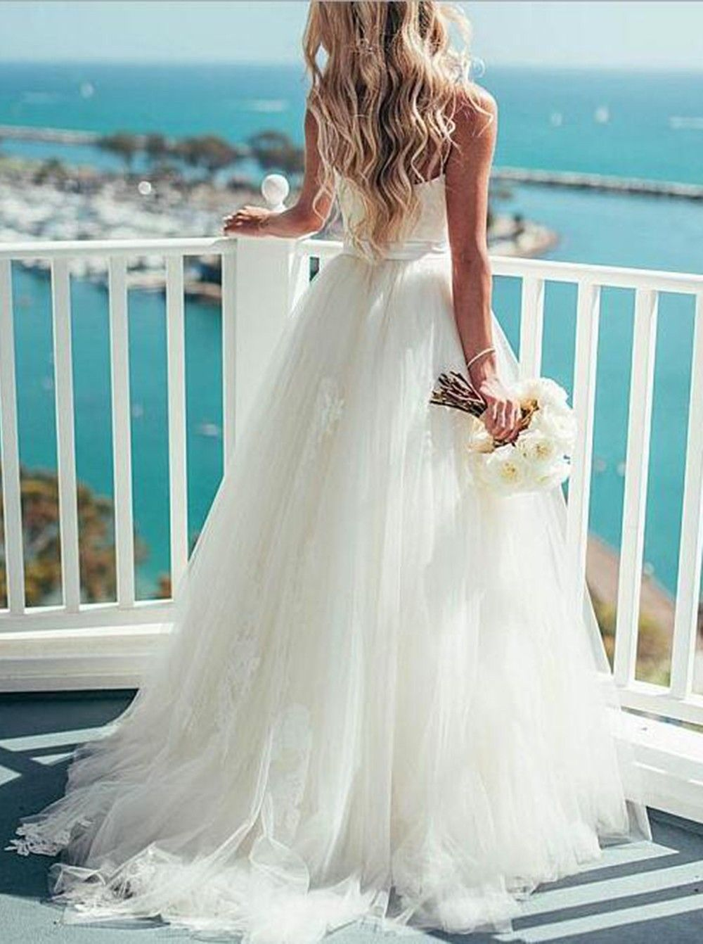 Simple Wedding Dresses with Train