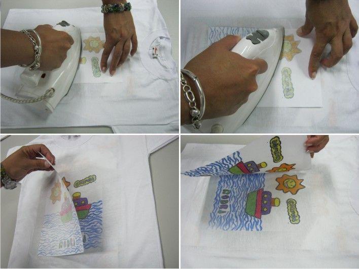 El Polo Playero De Crayola Impresion En Tela Manualidades Taller De Costura