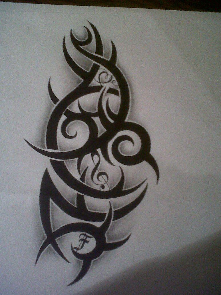 781e4f43071f1 tribal tattoo design with music note by tattoosuzette on DeviantArt ...