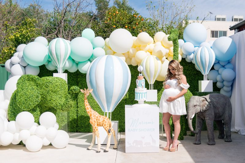 Jungle Hot Air Balloon Baby Shower Baby Shower Balloons Hot Air Balloon Baby Shower Hot Air Balloon Baby Shower Theme