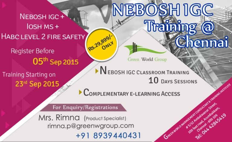 Gwg Is Proudly Announce Life Time Offer For Nebosh Igc Course In