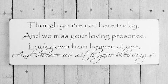 In Memory of for Weddings | In memory Wedding Signs - in honor of family member no ... | Wedding