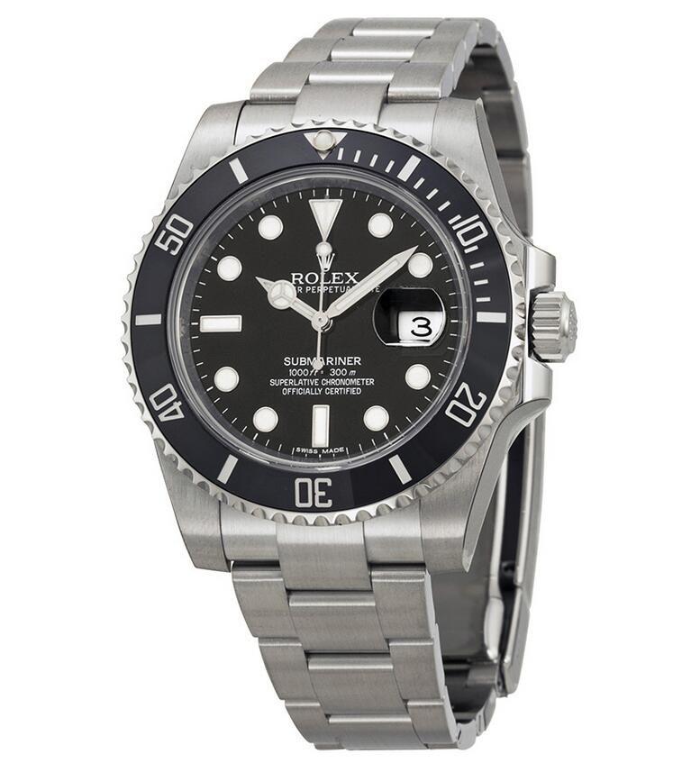 Rolex Oyster Perpetual Submariner Black Dial Black Cerachrom Bezel Steel Men's Watch 116610LN