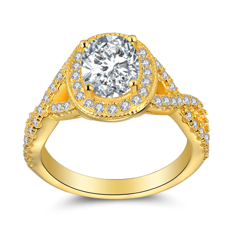 female glory of love ring 14k gold plated soufeel. Black Bedroom Furniture Sets. Home Design Ideas