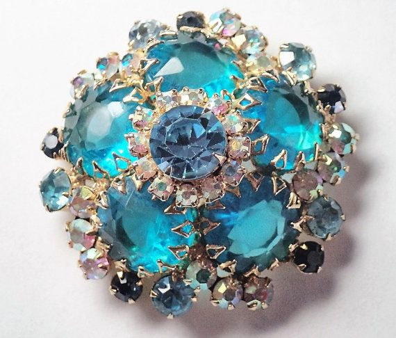 Delizza and Elster Juliana brooch Vintage 1968 1969 designer