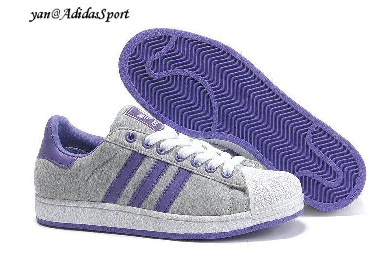 Unisex Adidas Originals Superstar 2 Decade Grey Purple Trainers