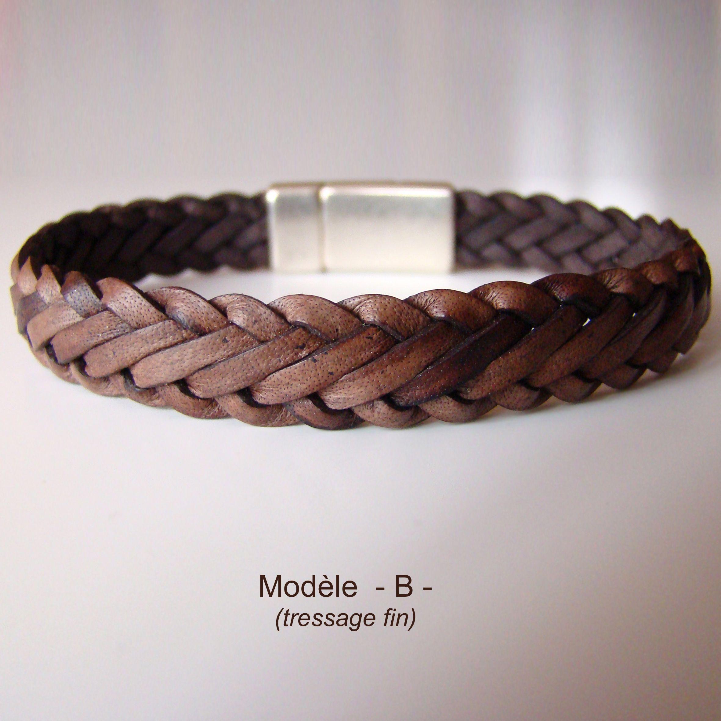 bracelet dandy marron antique tress 6 brins fermoir. Black Bedroom Furniture Sets. Home Design Ideas