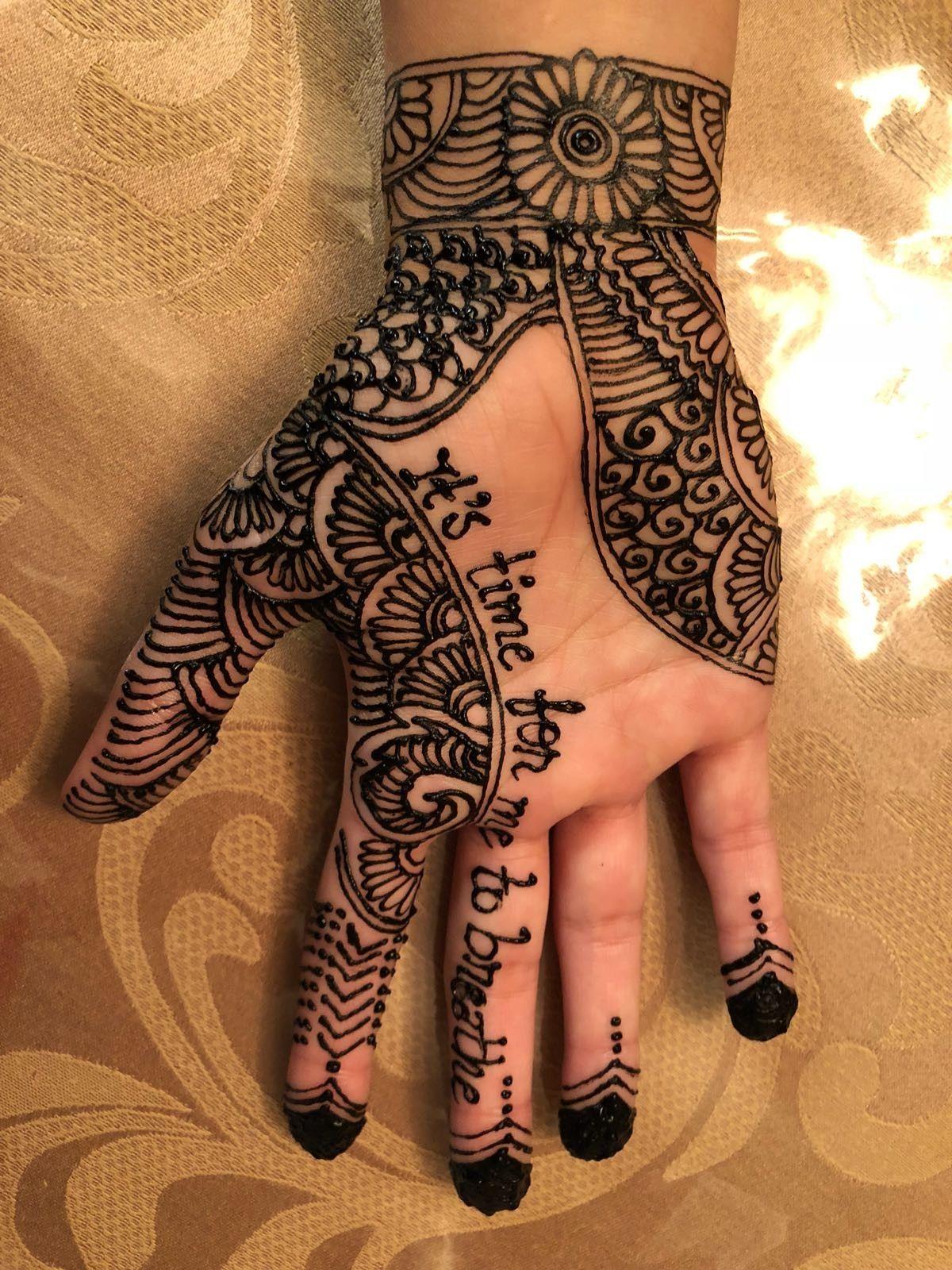 81031d687 Simple henna with lyrics   mehendi   Henna, Hand henna, Simple henna