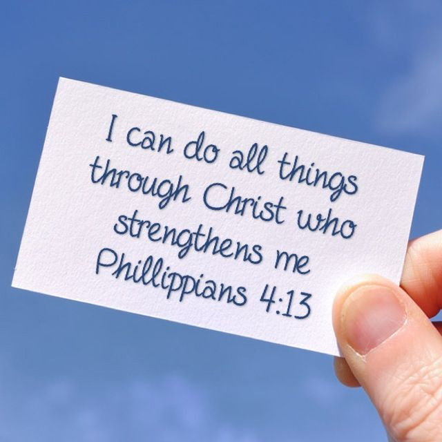 My All Time Favorite Verse Phillippians 4 13 Niv Writing