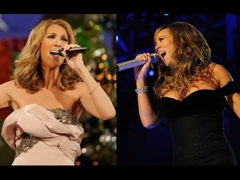 Christmas Song With Mariah Carey Celine Dion Live Youtube Celine Dion Celine Dion Live Mariah Carey