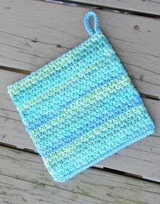 How to Crochet an Easy Peasy Pot Holder, Free Crochet Pattern ...