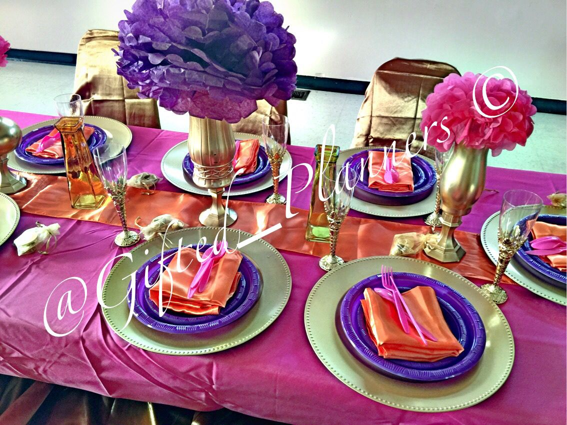 purple themed bridal shower%0A Moroccan theme  girl babyshower  princess  purple  pink  turquoise  gold   outside babyshower   Pinterest   Moroccan theme