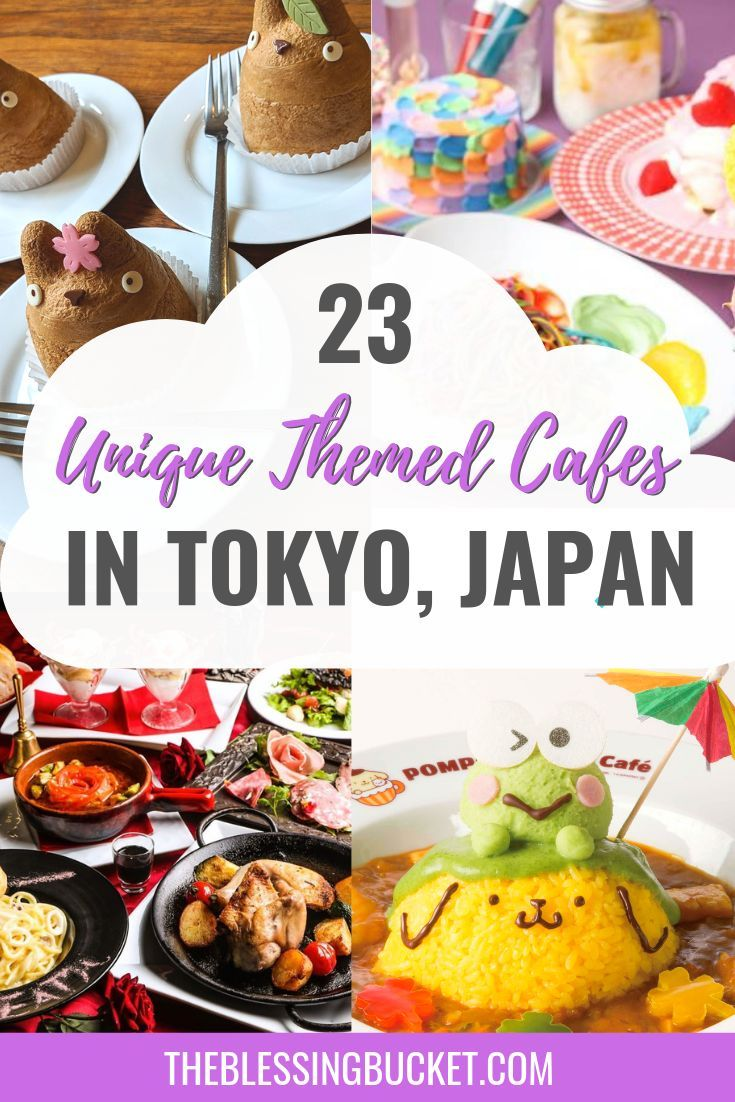 We cannot wait to try out these 23 Unique Themed Cafes in Tokyo during our next trip! #tokyo #japan #food #inspiration #musteat #travel #ideas