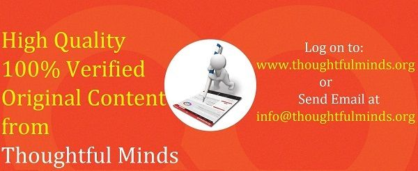 Academic content writing services in India offers top quality writing services in various fields to deliver projects that meet the standards of institutions of academic repute at a very genuine price range.