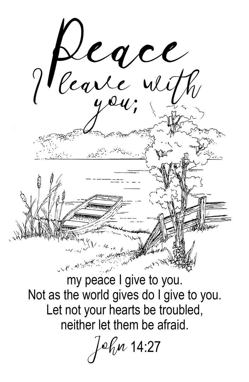 Vrede Laat Ik U Bijbel Gebed Journal Geloof Sjabloon Etsy Bijbel Gebed Vrede