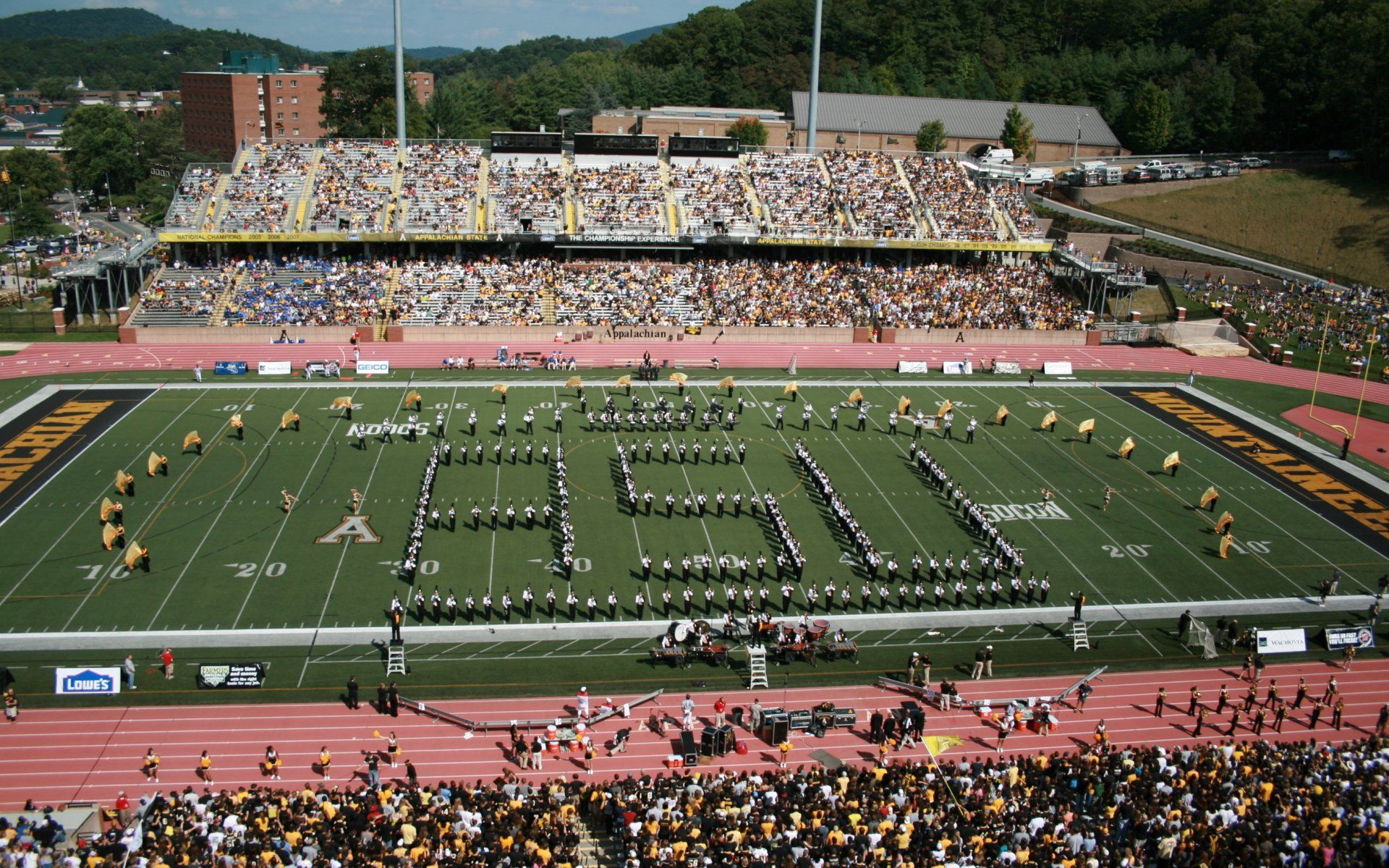 Appalachian State University Football Displaying 19 Images For Appalachian State Football Stadium Appalachian State Football Football Stadiums Appalachian