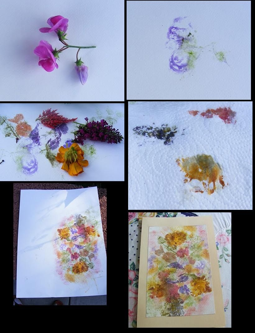 Make Your Own Cards From Smashing Flowers Onto Watercolor Paper