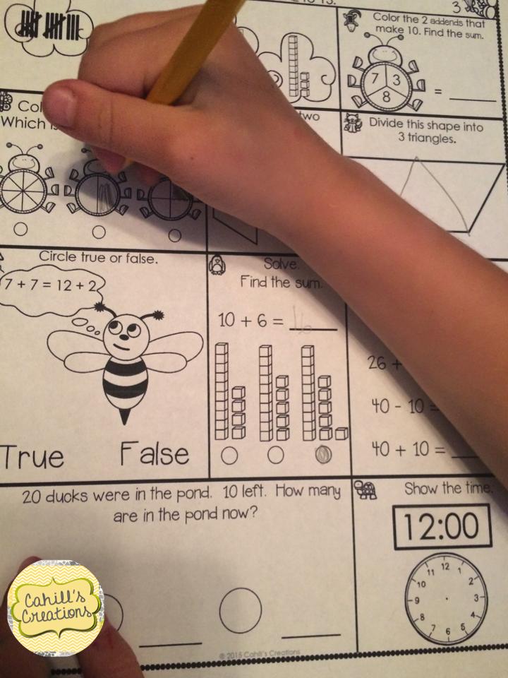 Practice math skills daily with this journal https://www.teacherspayteachers.com/Product/1st-Grade-April-Math-Journal-1756770
