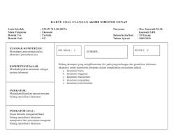 Format Kartu Soal Kurikulum 2013 Doc Penelusuran Google Kurikulum Kartu