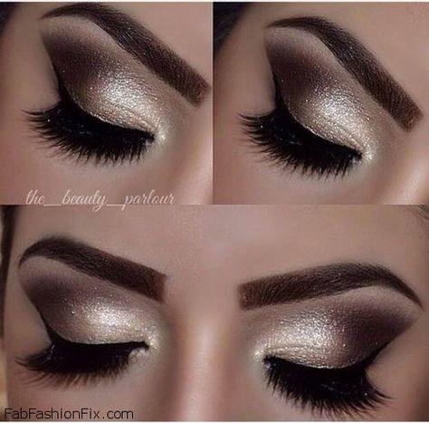 Golden Smokey Eye Makeup Tutorial By Lisa Eldridge Machiaj Eye
