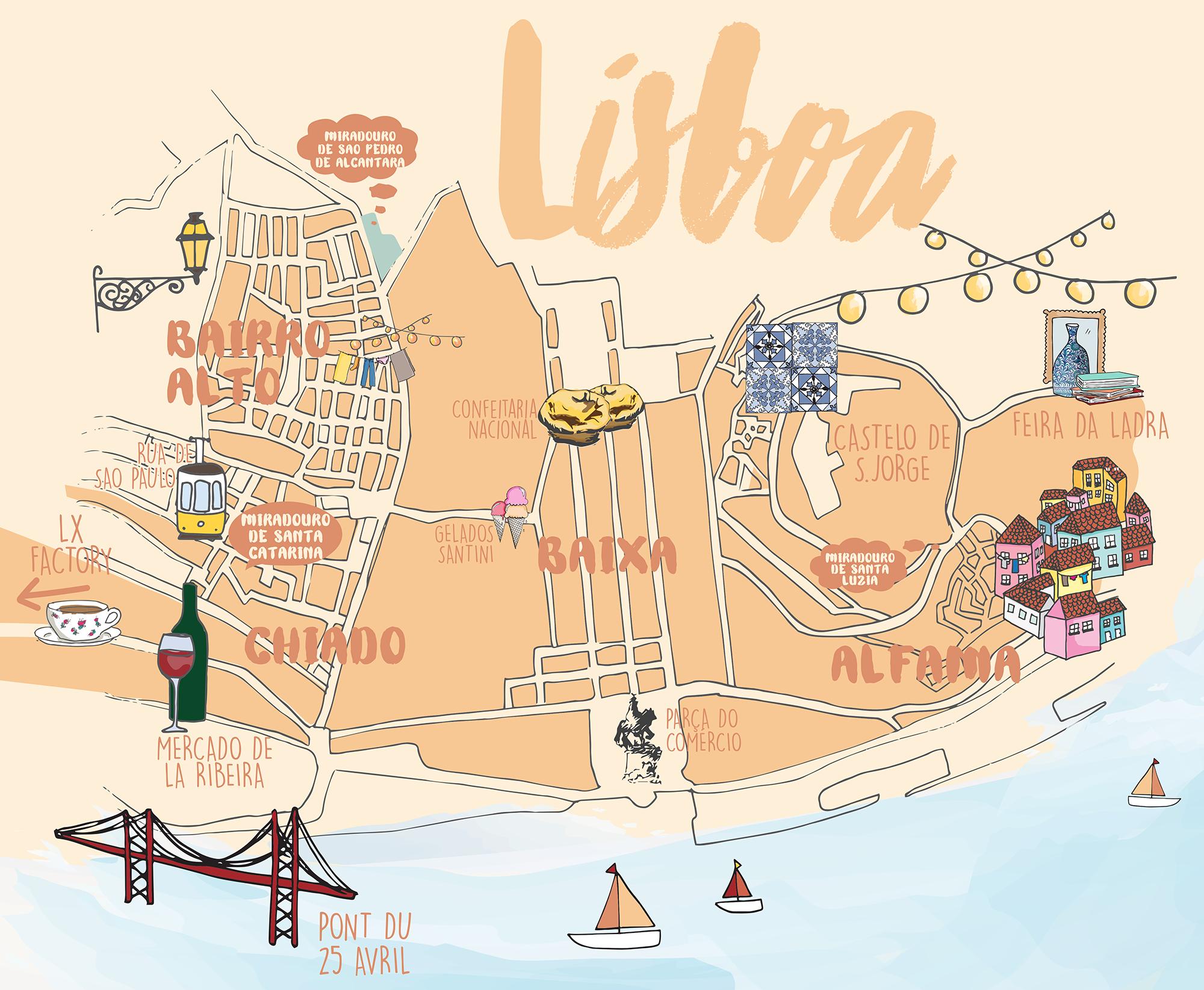 CARTE LISBONNE #lisbon