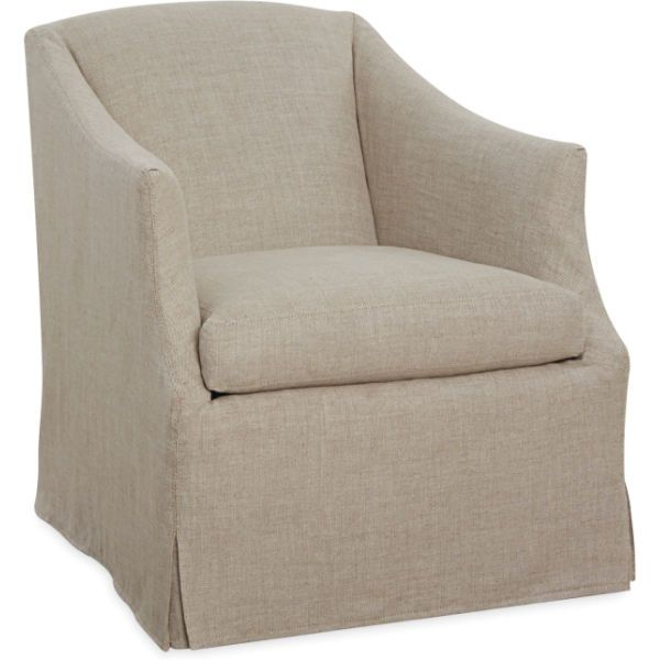 C1931 01SW Slipcovered Swivel Chair 28W x 34D x 34H