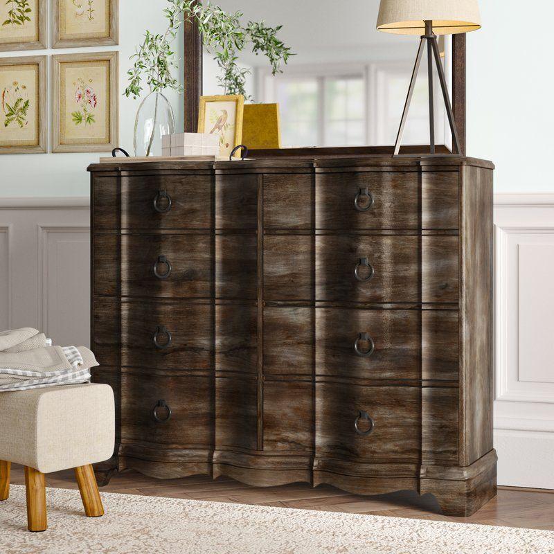 Best Barksdale 8 Drawer Double Dresser Dresser With Mirror 400 x 300