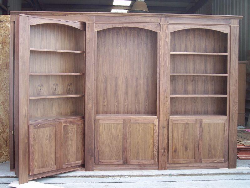 Construction of hidden door system Secret door, Tall