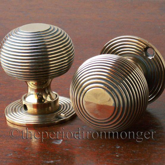 Beehive Solid Brass Door Knobs £36.00