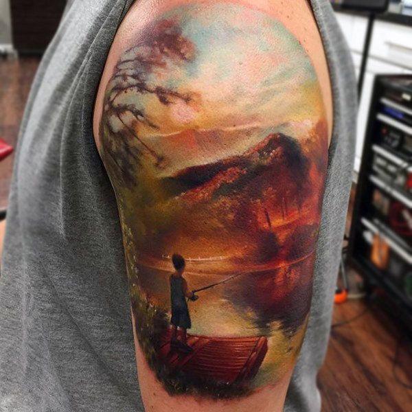 Top 101 Nature Tattoo Ideas 2020 Inspiration Guide Landscape Tattoo Half Sleeve Tattoos For Guys Nature Tattoos
