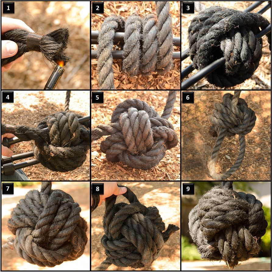 Rope Swing With Monkeys Fist  Monkey Fist Knot, Rope -1025