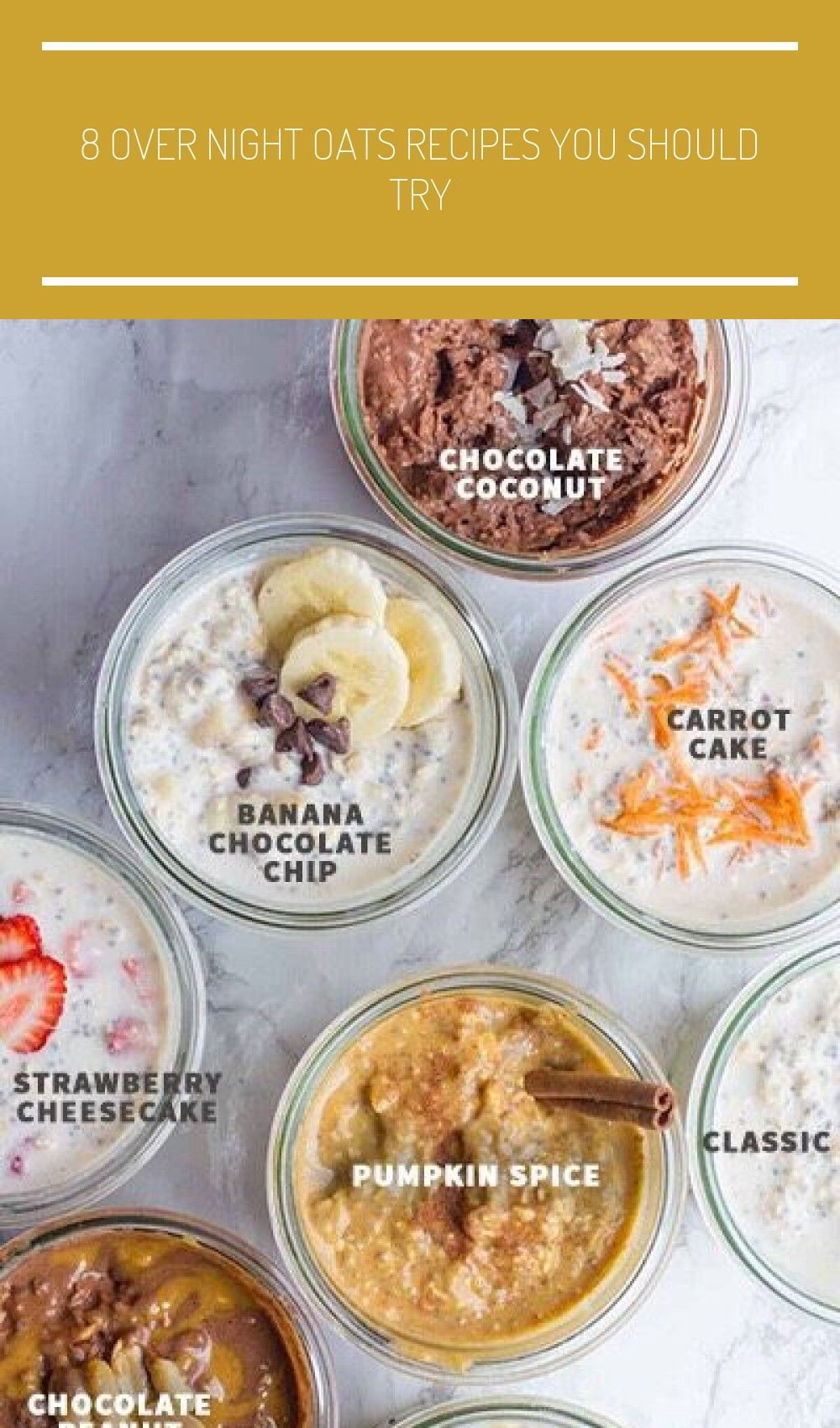 8 Over Night Oats Recipes You Should Try #Health #Fitness #Musely #Tip #healthy vegetarian recipes b...