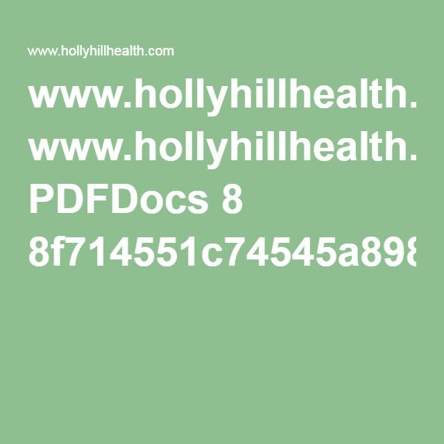 www.hollyhillhealth.com PDFDocs 8 ...