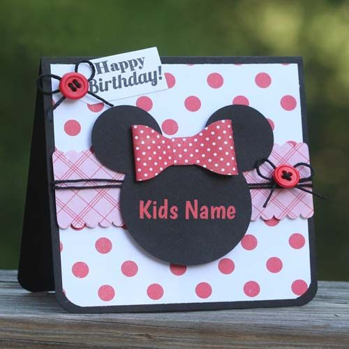 Write Name On Happy Birthday Wishes Cards For Kids Online Create
