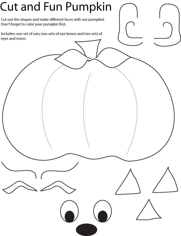 Cut and Create Pumpkin Crafts. HAPPY AUTUMN! → For more, please ...