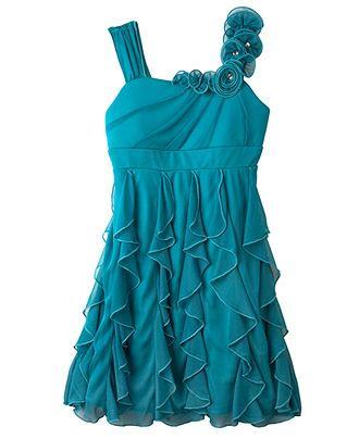 Bcx Girls Dress Girls Cascade Dress Kids Girls 7 16 Macy S Dresses Kids Girl Kids Pageant Dresses Girls Dresses