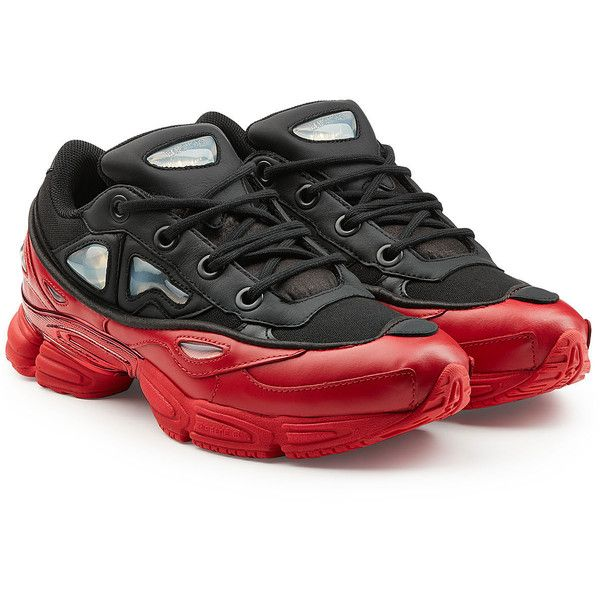 new style b688e 0556c Adidas by Raf Simons Ozweego III Sneakers ( 370) ❤ liked on Polyvore  featuring men s