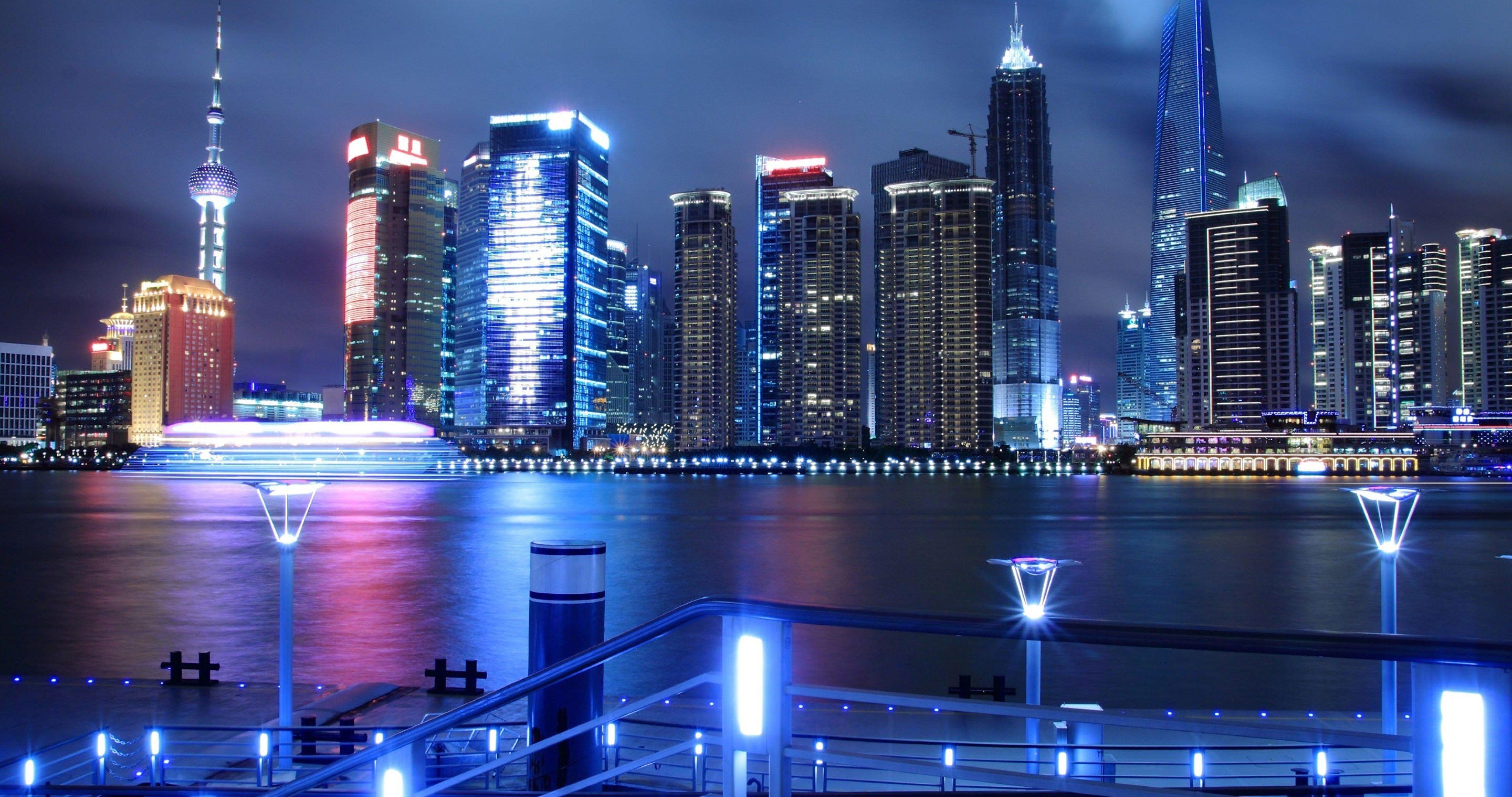 China Shanghai City 4k Ultra Hd Wallpaper Shanghai City Shanghai Night Shanghai