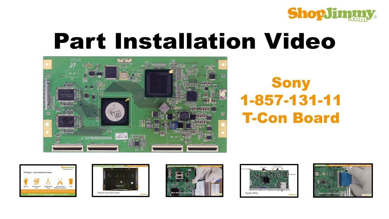 Sony Tv Repair >> Sony Tv Repair How To Replace Kdl 46wl14 Kdl 46w4150 T Con Board