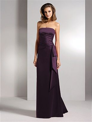Aubergine bridesmaid dress