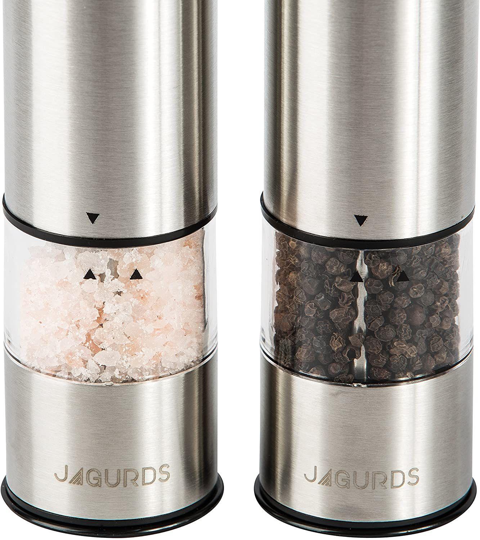 Electric Salt And Pepper Grinder Set Salt And Pepper Grinders Pepper Grinder Electric Pepper Grinder