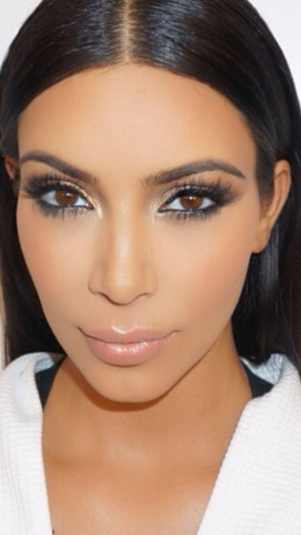 Kim Kardashian West makeup July 2015 Kim kardashian