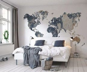 Imagem de bedroom room and world for the home pinterest imagem de bedroom room and world world map wall gumiabroncs Choice Image