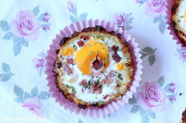 Rezepte mit Herz   ♥: Ei im Kartoffel - Parmesan - Nest